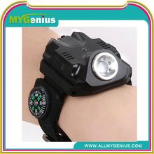 tactical waterproof watch flashlight ,ML0037, led lamp of wrist watches
