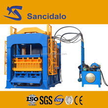 Automatic cement brick making machine with concrete mixer