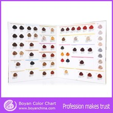 OEM professional hair dye color shade book hair color mixing chart for salon use