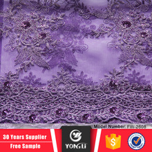 China supplier sale cheap african embroidery lace fabric for wedding dress