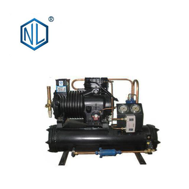 Customizable semi-hermetic freezer compressor air cooler condensing unit
