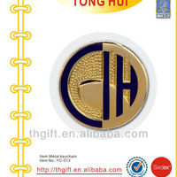 Gold Enamel Souvenir Metal Coin Badges