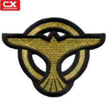 Eagle design embroidery emblem badge for sportswear
