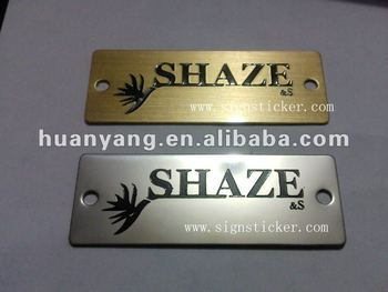 brass stainless nameplate