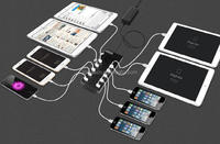 High grade 10 port 2.0 usb hub charger station for tablet and cell phone