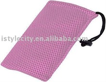 Mesh Travel Pouch (Light Pink)