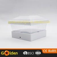 4 LED Decking Square Solar Power Post Cap Lighting