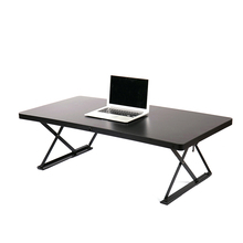 cheap black lift-up height adjustable stand up study computer table desks