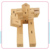 Wooden Robot Toy, Eco- friendly Wooden Puzzle Robot Cube