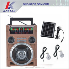 Solar power system radio speaker with radio function