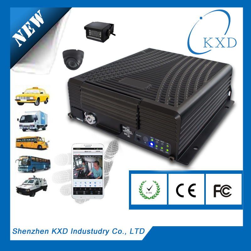 FULL D1 HDD 4ch vehicle police car dvr with 3G/5.8WIFI/GPS