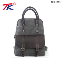 New fashion men's soft retro handbags vintage canvas backpack for travel