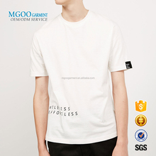 MGOO Garment OEM American Apparel with Printing Words Plus Size Couple T-shirts China Golden Manufacturer For Fashion Brand