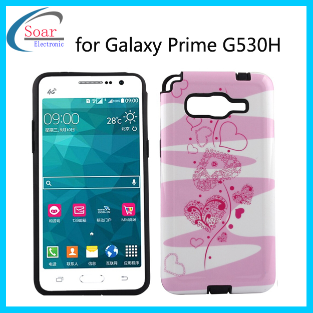 Detachable case with lovely design combo case cover for samsung galaxy grand prime sm-g530h