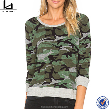 readymade garments wholesale market contrast cheap blank raglan camo t shirt