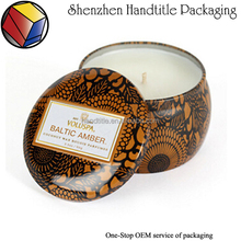 OEM romantic candle tin box