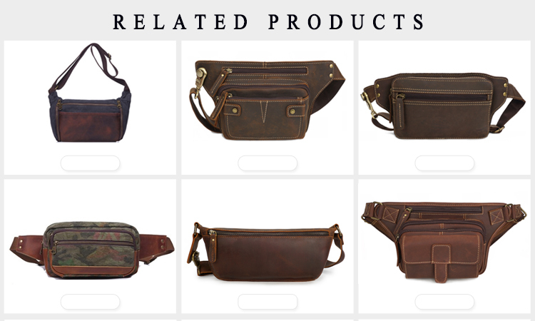 YD-5254 outdoor hiking belt wholesale genuine leather waist bag fanny pack