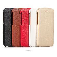 genuine flip leather case for apple iphone 6