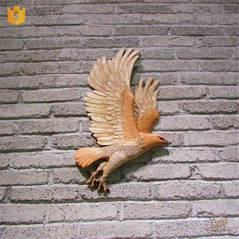 Customized Oem Odm Most Popular Products China Restaurant Wall Decoration Resin Eagle