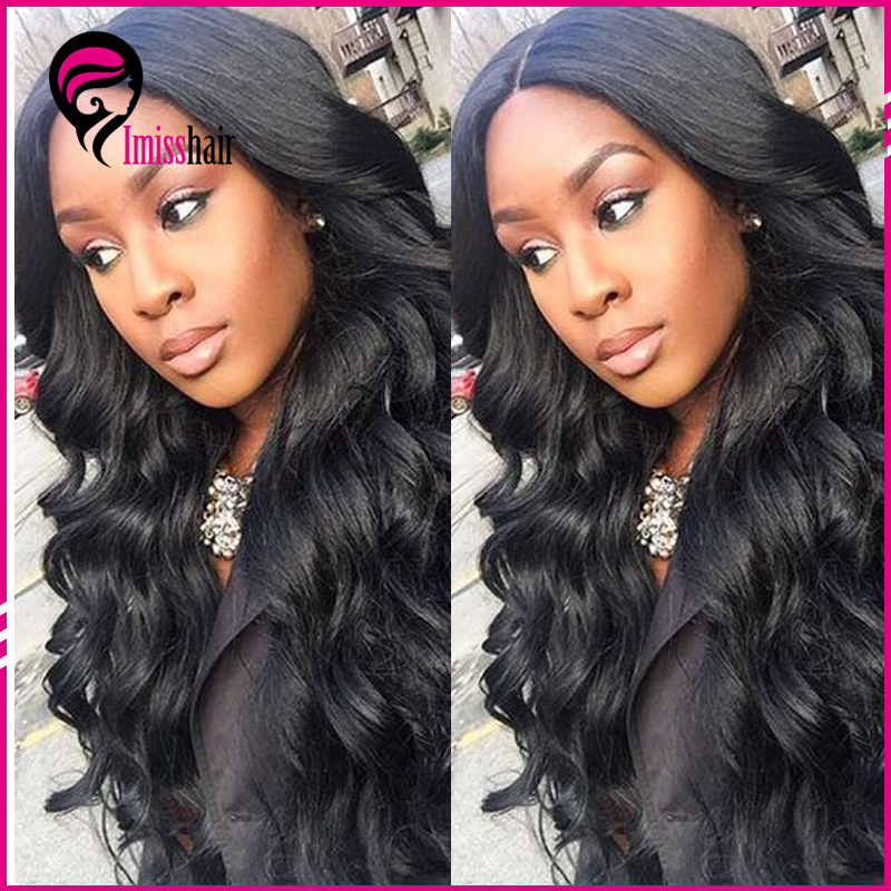 22 Inch cheap long ladies' lace front human hair wig body wave in atlanta natural wavy human hair wig