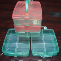 clear plastic food container with divider / plastic storage boxes / food container