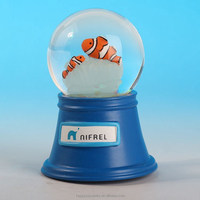 Lighting gifts wholesale,music related gifts,sea animal snow globe with LED