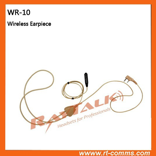 Mini invisible wireless earpiece earphone for walkie talkie two way radio communication use