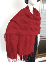 Pure color woven scarf Factory direct sale