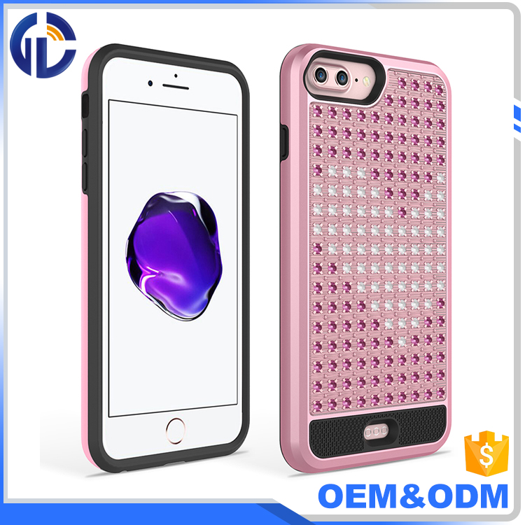smart phone luxury diamond case cover Diamond Flashing Cell Phone Cases for iphone 7 plus