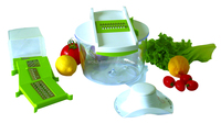 Vegetable Cutter with Bowl Salad Maker Set Plastic Kitchen Accessories