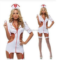 Adult cheap price sexy japanese latex lingerie nurse costume women outfit BWG13424