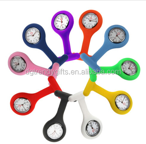 Fashion Silicone Nurse Fob Watch Doctor Medial Montre Watch Print Your Company Name