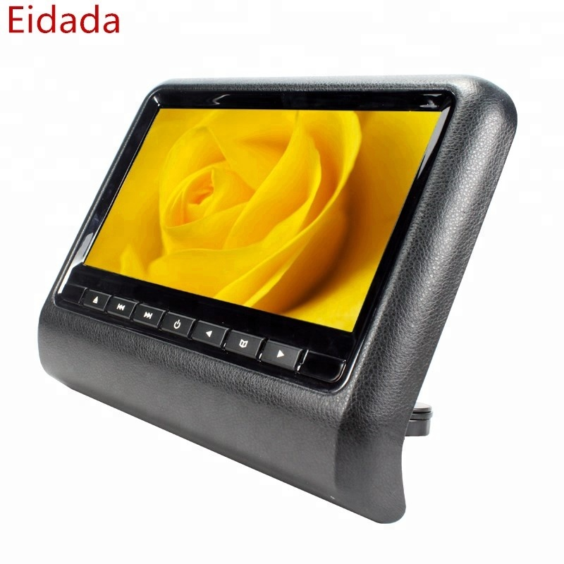 Eidada Factory Price 9 inch Universal Back Sear Lcd Headrest Monitor Car Dvd <strong>Player</strong> with USB SD FM Game
