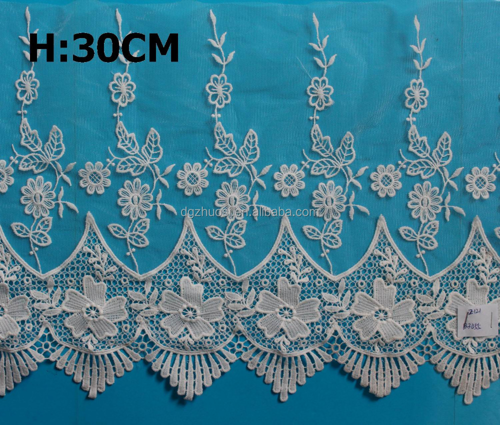 Factory supply cotton bridal lace trim