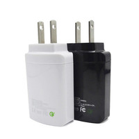 HAISSKY High quality multi port usb charger portable PD usb charge wall charger Travel charger with Folding US plug