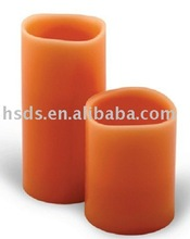 Paraffin wax Melted top edged LED candle