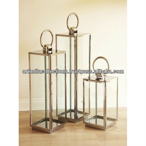 Votive Lantern/Steel Lantern/Outdoor Lantern/Metal Lantern/Room Lantern/Candle Lantern/Table Lantern/Candle pillar holder