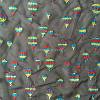 New design balloon embroidery african fabric for wedding dress
