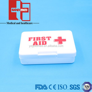 Small empty plastic first aid box