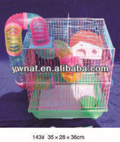 Novel design wire hamster cage/ rabbit cage/ cat cages with funny accessories