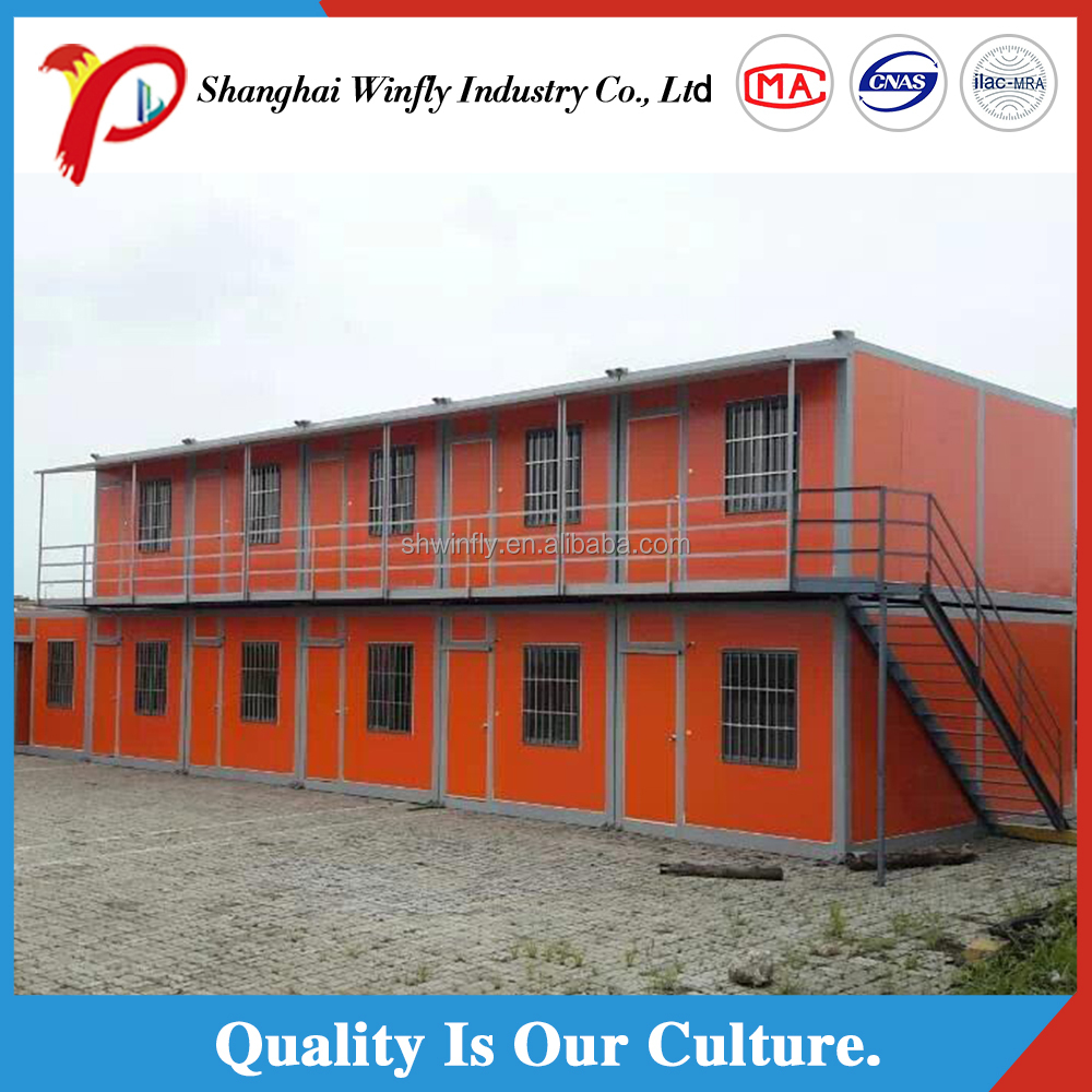 shanghai manufacturer flat cheap prefab portable house for sale