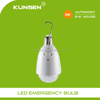 Rechargable emergency led bulb light e27 5w home use bulbs