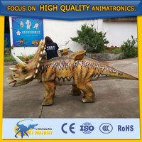 CET-N-110Cetnology Children Entertainment triceratops puppet Indoor Riding Dinosaur Model for Kids