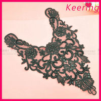 wholesale beaded neckline lace motif for garments WNL-1378