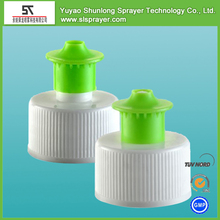 plastic PP disc fliptop normal spining screw electro-aluminum cap lid