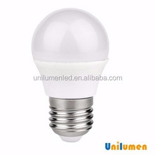 G55 size led bulb E27 Plastic with Aluminum 3000K WW 6W light bulb