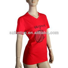 custom sublimation printing 2013 fashion womens beautiful t shirts