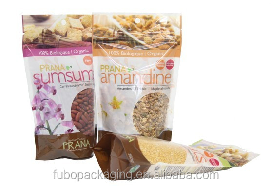 Eco friendly food packaging printed plastic bags for nut