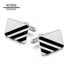 Stock wholesale high quality stainless steel cufflinks, men's suit shirt cufflinks button