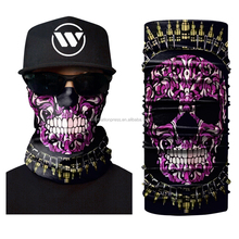 Cheap Custom Priate Design Your Own Neck Tube Headband Headwear Skull Bandana